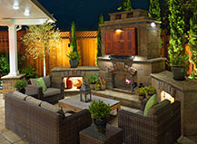 Outdoor Fireplace And Patio Pavers