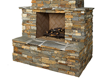 Small Natural Stone Fireplace