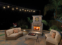 Small Outdoor Fireplace With Seating