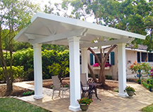 Gabled Pergola With Outdoor Seating