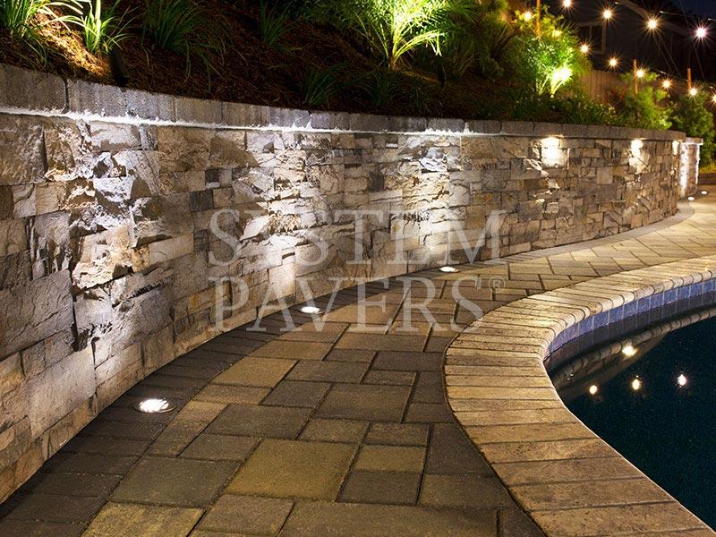 Custom Stone Retaining Wall Design Installation System