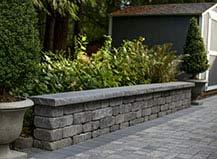 Grey Paving Stone Landscape Sitting Wall