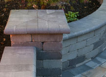 Stone Wall With Matching Accent Pillar