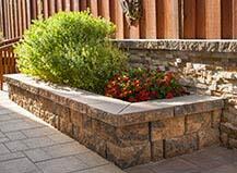 Stone Facing Freestanding Planter Box