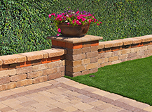 Capri Landscape Retaining Wall With Accent Plants