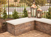 Custom Wall Seat And Retaining Walls
