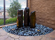 Natural Stone Water Feature With Accent Rocks