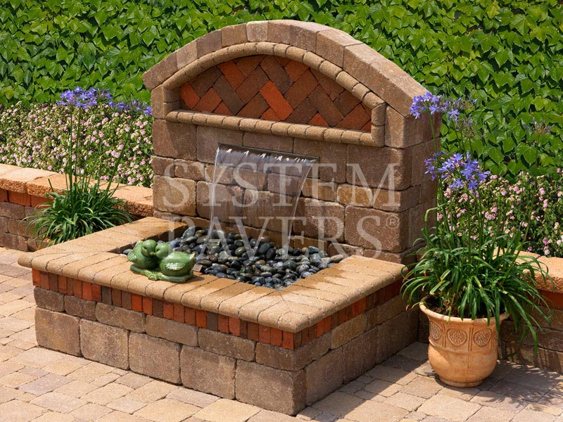 Wall water features outdoor backyard garden wall water for Backyard water feature