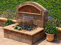 Capri Water Feature With Accent Plants