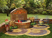 Capri Water Feature With Circle Pavers