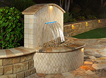 Capri Water Feature With Accent Lighting