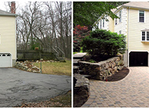 Before After Pavers Driveway