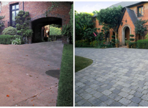 Before After Pavers Driveway Image