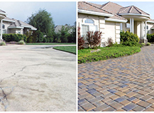 Before After Pavers Concrete To Beauty