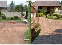 Dramatic Difference Of Driveway Pavers