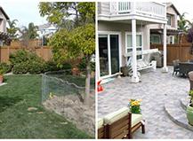 Grass Or Paving Stones Backyard