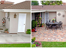 Backyard Patio Paver Stones