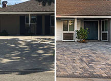 Grey And Cream Paver Driveway Design And Transformation