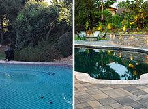 Pool Pavers Design And Transformation With Patio And Retaining Wall