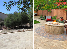 Before And After Patio Firepit Design