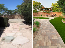 Before And After Side Walkway Transformation With Sp Turf