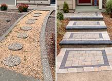 Front Yard Paver Walkway Transformation