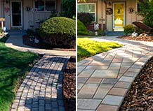 Front Yard Paver Entry And Walkway Before And After