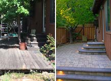 Side Yard Paver Patio And Steps Tranformation