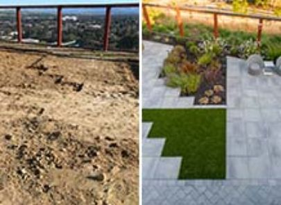 Personalized Patio Tranformation With Turf And Bbq Island