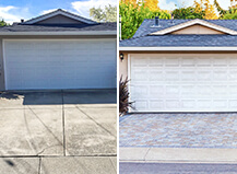 Before And After Paver Driveway Remodel
