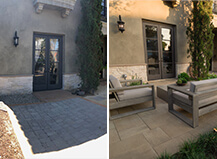 Before And After Contemporary Paver Patio Design