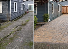 Cracked Concrete To Durable Paving Stone Driveway Remodel