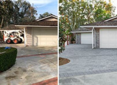 Contemporary Paver Driveway Before And After
