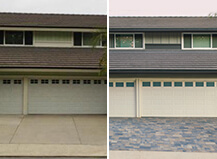 Before And After Cool-Tone Paver Driveway Remodel