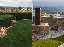 Before And After Garden Patio With Water Feature