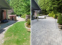 Patio Transformation From Dead Grass To Beautiful Pavers