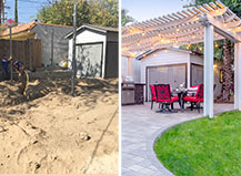 Before And After Paver Patio Transformation