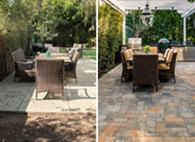 Paver Patio Dining Area And Bbq Island Transformation