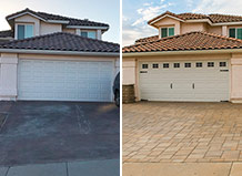 Double Car Paving Stone Driveway Remodel