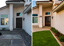 Paver Entryway With Turf Lawn Transformation