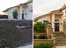 Before And After Front Yard Steps With Landscape Wall