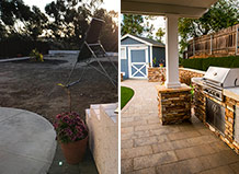 Outdoor Patio And Bbq Island Transformation