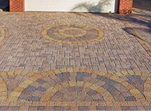 Driveway Pavers Circular Design Pattern