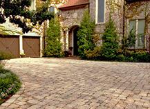 Mixed Tan Stone Driveway Pavers