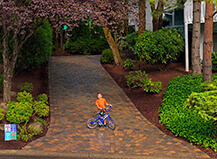 Circular Style Driveway Pavers With Trim