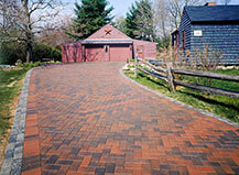Driveway Pavers Red & Grey