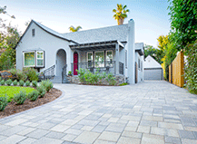 Grey Paver Driveway Transformation And Design