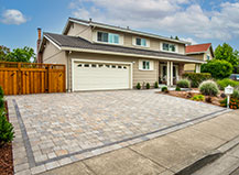 Multi-Tone Paver Driveway With Charcoal Border