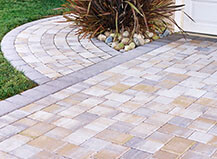 Bordered Multi-Color Driveway And Walkways Pavers