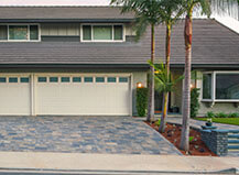 Multi-Colored Paver Driveway And Front Walkway